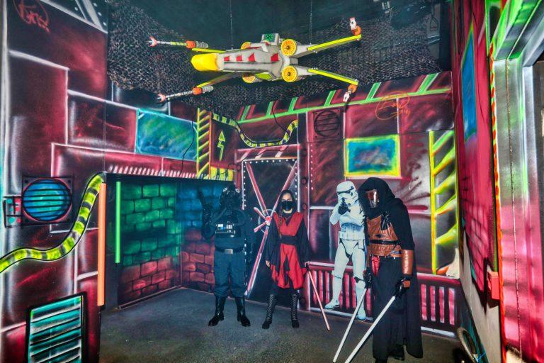 intérieur et mise en scène laser game boulogne sur mer